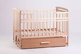 Кровать трансформер из натурального дерева с большим выдвижным ящиком для вещей от производителя Дитячий сон