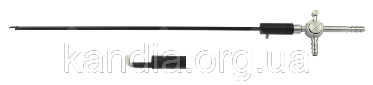 Электрод лапароскопический L-образный с каналом для аспирации Wanhe