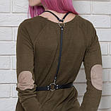Шкіряна жіноча портупея з м'якої натуральної шкіри FH-23 ., фото 3