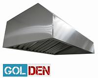 Зонт вытяжной пристенный с жироуловителями  1200х800 h400