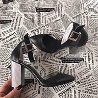 Туфли женские на пряжке  натуральная кожа