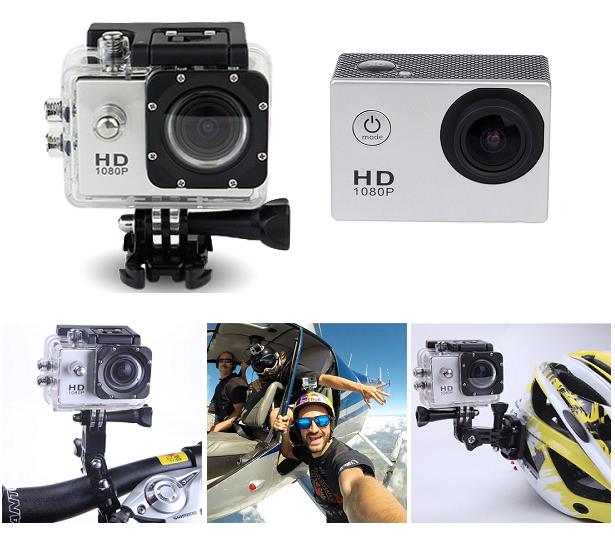 Экшен камера SJ4000 фото 12 МР  Водонепроницаемый Бокс 30м