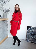 Шикарный  удлиненный кардиган красный, фото 1