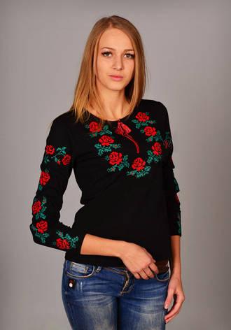 Сем роз футболка вышиванка с длинным рукавом, фото 2