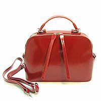 Bоrsa Marte - Красная лаковая сумка из натуральной кожи
