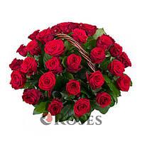 """Ккорзина """"Для Самой Любимой"""" 35 красных роз"""