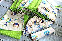Комплект детского постельного белья+бортики для девочки