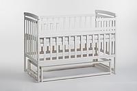 Детская кроватка - трансформер белого цвета от ТМ Дитячий сон из натурального дерева
