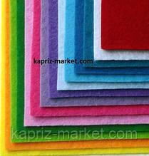 Фетр 1 мм А4( 20х30 см), кольори в асортименті,