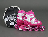 Ролики Best Rollers 1002 M (35-38см) розовые