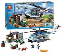 """Конструктор Bela 10423 серия Urban город (агалог Lego City 60046) """"Вертолётный патруль"""" 528 деталей"""