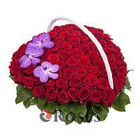"Корзина ""Мечта"" 101 красная роза"