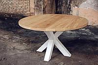 Стол дубовый круглый Koeln+XX для ресторана, для кафе, для бара, для гостиниц в стиле Лофт