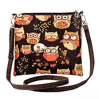 Текстильная сумка через плечо Owls