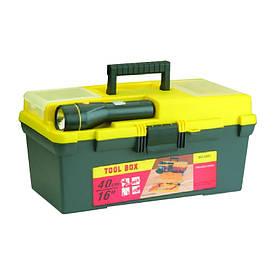"""Ящик для инструмента 16"""" с фонариком 79K021 395*220*200 мм"""