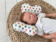 """Детская подушка для новорожденного """"Butterfly"""" , белая"""