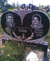 """Двойной памятник на могилу из гранита """"Душа"""""""