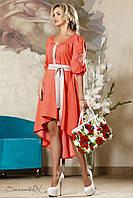 Яркое женское терракотовое платье 2191 Seventeen 44-50 размеры