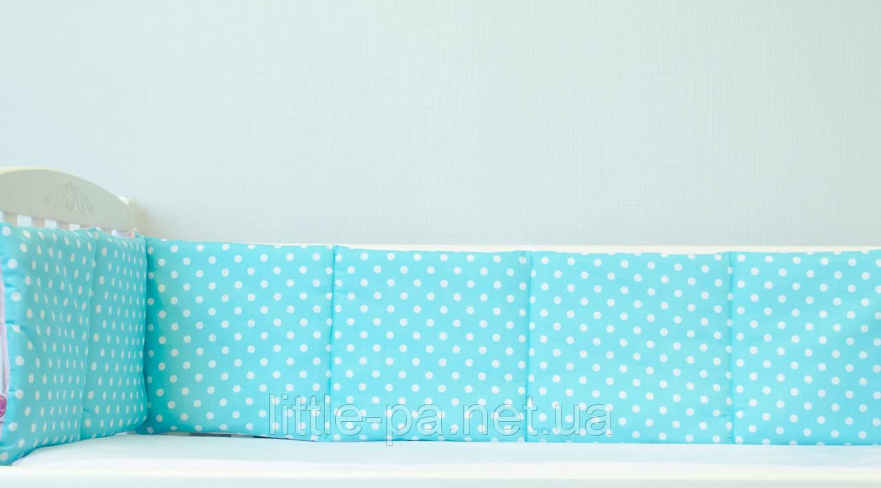 Защитные бортики для кроватки новорожденного «Горошки»