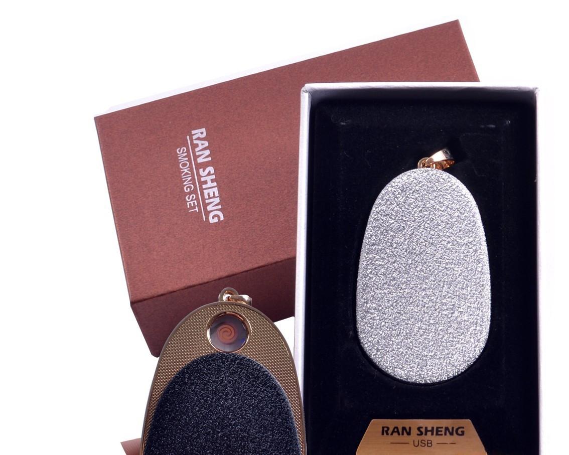 """Спиральная USB зажигалка-брелок """"Яйцо"""" №4867-4, подарочная коробка, практичный аксессуар для Вас"""