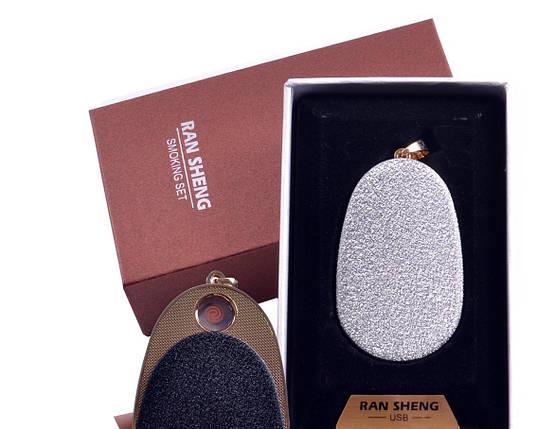 """Спиральная USB зажигалка-брелок """"Яйцо"""" №4867-4, подарочная коробка, практичный аксессуар для Вас, фото 2"""