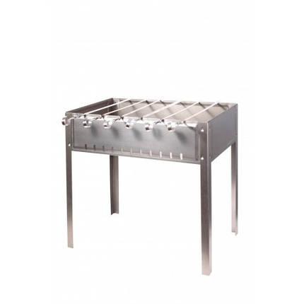 Мангал для шашлыков 6-местный черный, штампованный, толщина 1,0 мм, с шампурами 1160, фото 2