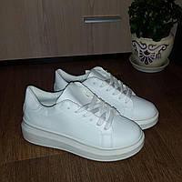 Белые туфли на толстой подошве в наличии