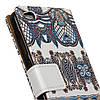 Чехол книжка для Xiaomi Redmi 4A боковой с отсеком для визиток, Классический орнамент, фото 3