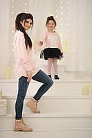 Комплект туник для мамы и дочки №3027