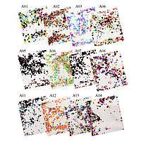 Конфетти для дизайна ногтей в пакетиках в ассортименте, серия  А