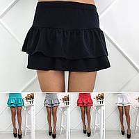 Женская юбка на сборке волан