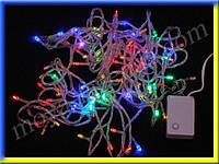 Светодиодная гирлянда rgb (7 метров, 100 светодиодов, белая проводка)