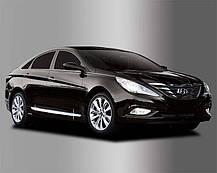 Акценти бічних спідниць B669 (ХРОМ) - Hyundai Sonata YF / i45 (AUTO CLOVER), фото 2