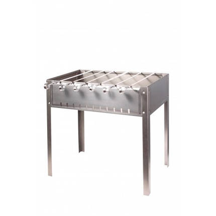 Мангал для шашлыков 6-местный черный, штампованный, толщина 0,5 мм, с шампурами 1162, фото 2