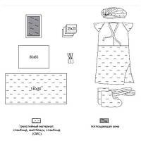 Комплект одежды и покрытий операционных акушерский стерильный №10 Славна