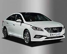 Акценты боковых юбок C222 (ХРОМ) - Hyundai LF Sonata (AUTO CLOVER), фото 2