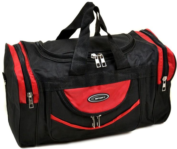 Дорожная спортивная сумка 0270-50 red, черно-красный 20 л