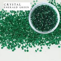 Хрустальная крошка Emerald - ss 2 - 100 шт.
