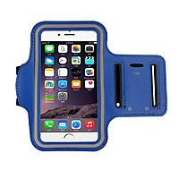 Чехол Sport iPhone 6 синий на руку в упаковке