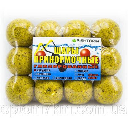 Шары прикормочные глазированные 12/шт 40 мм. 400 г. Кукуруза - «На крючке» в Одессе
