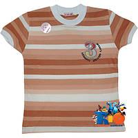 """Яркая трикотажная футболка """"3 World`s Company"""" , (вариации полоски) , для мальчика от 1-4 лет (4 ед. в уп.)"""
