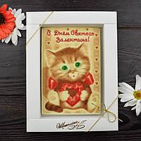 Шоколадная открытка 140х95мм. Ш-3  1/106 классическое сырье, фото 1