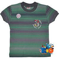 """Яркая трикотажная футболка """"3 World`s Company"""" , (вариации полоски) , для мальчиков от 1-4 лет (4 ед. в уп.)"""