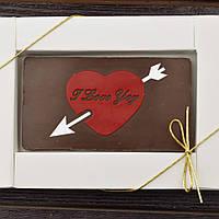 Шоколадная открытка 90х50мм. В-1 12/203 классическое сырье, фото 1