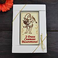 Шоколадная открытка В-1, 90х50мм. 11/203 классическое сырье, фото 1
