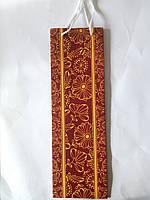 Пакет подарочный бумажный бутылка 12х36х9 (25-005)