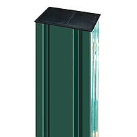 Столб оцинкованный для панельного забора 80x60 мм ПРОМ L5000 S2.0