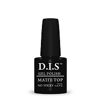 Верхнее покрытие D.I.S. nail Gel Polish Matte Top NO STICKY матовое