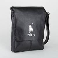 Стильна мужская сумка формат А4(черная POLO)