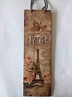 Пакет подарочный бумажный бутылка 12х36х9 (25-031)